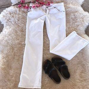 Maurice's flip picker white jeans